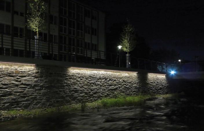 Henne-Boulevard lichttechnisch in Szene