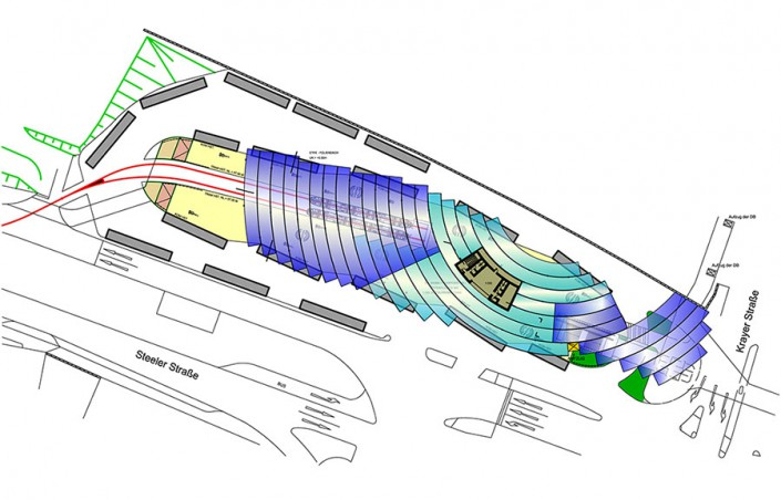 Verkehrsplatz Essen Steele Entwurf