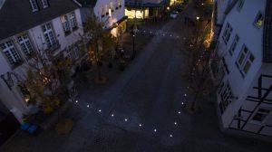 Lichtpforte per Drohne von oben - Foto: Boris Golz