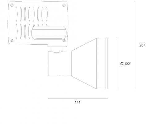 Quadrato LED-Schienenstrahler